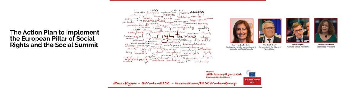Webinaire CESE Socle européen des droits sociaux