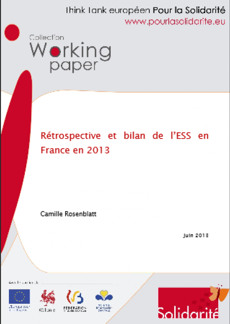 image couverture Rétrospective et bilan de l'ESS en France en 2013