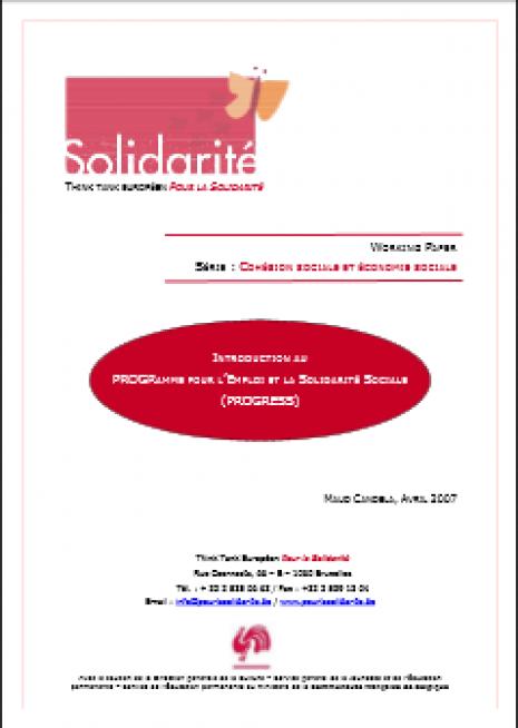image couverture programme pour l'emploi et la solidarité sociale