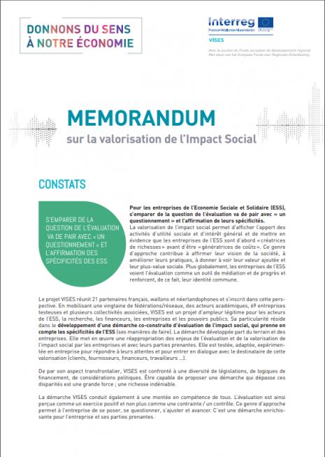 Mémorandum publication